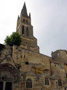 Saint Emilion (Gironde): église monolithe