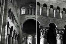 Saint Genou (Indre): l'église abbatiale. La nef