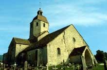 Saint Hymetière (Jura): l'église. Façade et flanc nord