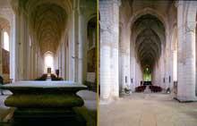 Saint Jouin de Marnes (Deux Sèvres): l'église abbatiale. La façade: la nef