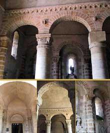 Saint Menoux (Allier): l'abbatiale. Le narthex