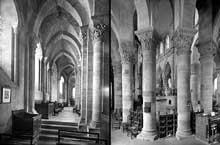 Saint Menoux (Allier): l'abbatiale. Le déambulatoire