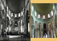 Saint Menoux (Allier): l'abbatiale. Le chœur