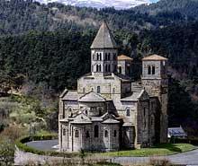 Saint Nectaire (Puy du Dôme): vue de l'église