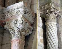 Saint Paul Trois Châteaux (Drôme): ancienne cathédrale: chapiteaux de la nef