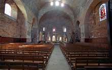 Saint Paulien (Haute Loire): collégiale saint Georges: la nef