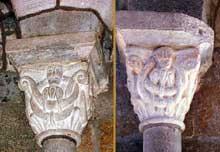 Saint Paulien (Haute Loire): collégiale saint Georges: chapiteaux