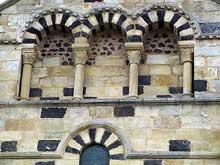 Saint Saturnin (Puy du Dôme): décor du croisillon nord