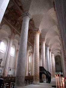 Saint Savin sur Gartempe (Vienne): l'église abbatiale, bas-côté nord