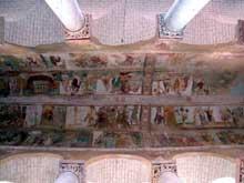 Saint Savin sur Gartempe (Vienne): l'église abbatiale, la voûte et ses fresques