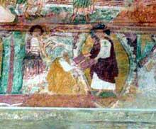 Saint Savin sur Gartempe (Vienne): l'église abbatiale: Moïse reçoit les tables de la loi