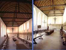 Saint Wandrille (Seine Maritime): abbaye bénédictine: le réfectoire