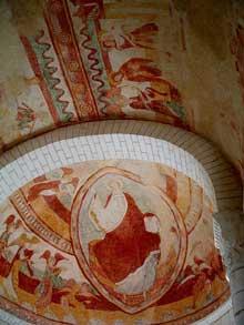 Tavant (Indre et Loire): Eglise Saint-Nicolas. Fresque du chœur.