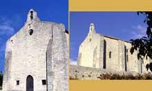 Vaison la Romaine (Vaucluse): la chapelle saint Quenin: façade occidentale