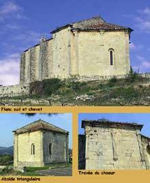 Vaison la Romaine (Vaucluse): la chapelle saint Quenin: Chevet et abside romanes