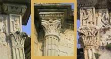 Vaison la Romaine (Vaucluse): la chapelle saint Quenin: Décors de la corniche du chevet
