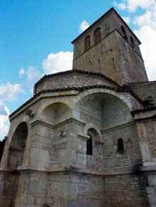 Valcabrère (Haute Garonne): basilique saint Just: le chevet