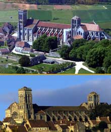 Vézelay (Yonne), basilique sainte Madeleine. Vue générale