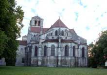 Vézelay (Yonne), basilique sainte Madeleine. Le chevet gothique