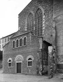 Vienne (Isère): saint André le Bas: façade occidentale