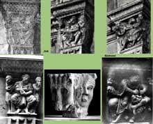 Vienne (Isère): saint André le Bas: chapiteaux de l'église