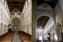 Vignory (Haute Marne): l'église saint Etienne. La nef