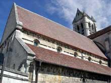 Villers saint Paul (Oise)�: l��glise. Nef et crois�e