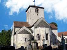 Vomécourt sur Madon (Près de Mirecourt, Vosges): Eglise saint Martin. Le chevet