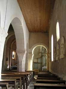Vomécourt sur Madon (Près de Mirecourt, Vosges): Eglise saint Martin. Bas – côté sud