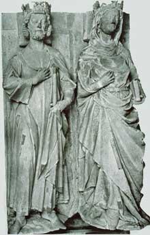 Gisants de Robert le Pieux et Constance d'Arles. Abbaye de Saint Denis, 1263