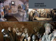 Chaource: le saint sépulcre, 1515ss. Église paroissiale Saint-Jean-Baptiste. (Histoire de l'art - Quattrocento