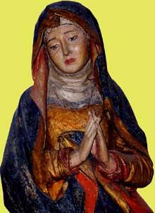 Mussy sur Seine (Aube): la vierge. (Histoire de l'art - Quattrocento