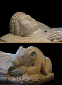 Jean de Cambrai: tombeau du duc Jean de Berry (1340-1416), duc du Poitou. Détail. Marbre, 1416-1438. Bourges