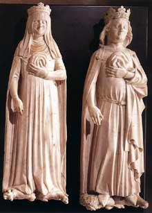 Jean de Liège (actif entre 1361 et 1381): tombeau de Charles IV le Bel et de Jeanne d'Evreux. Paris, Louvre
