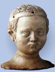Jean de Liège (actif entre 1361 et 1381): Bonne de France. Vers 1361 Musée Mayer van den Bergh, Anvers