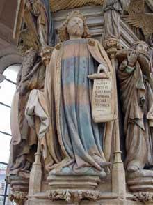 Claus Sluter (1350-1406). Le puits de Moïse. David. (1395ss) Chartreuse de Champmol