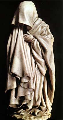 Claus Sluter (1350-1406). Tombeau de Philippe le Hardi. Un pleurant. Chartreuse de Champmol