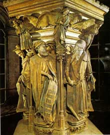 Claus Sluter (1350-1406). Le puits de Moïse. Daniel et Isaïe. (1395ss) Chartreuse de Champmol