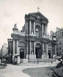 Robert de Cotte: façade de l'église saint Roch de Paris