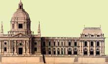 Louis le Vau: Première étude de la façade du collège des Quatre Nations (1662-1668)