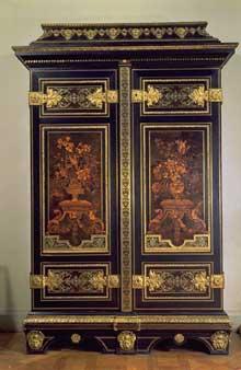 André-Charles Boulle: Cabinet. Paris, début du XVIIIè. 260cm de haut