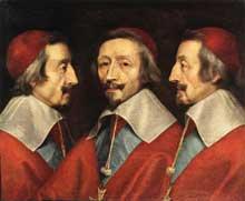 Philippe de Champaigne: triple portrait du cardinal de Richelieu. Vers 1640. Huile sur toile, 58 x 72cm. Londres, National Gallery