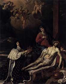 Philippe de Champaigne: Le vœu de LouisXIII. 1637. Huile sur toile, 342 x 267 cm. Caen, Musée des Beaux-Arts