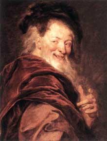 Antoine Coypel: Démocrite. 1692. Huile sur toile. 69 x 77cm. Paris, Musée du Louvre