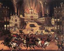 Claude Deruet: les quatre éléments: le feu. Avant 1642. Huile sur toile, 194 x 258cm. Orléans, musée des Beaux Arts