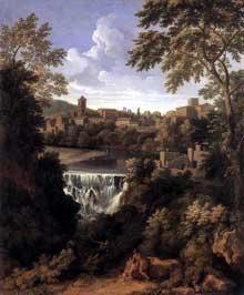 Gaspard Dughet: les chutes de Tivoli. Vers 1661. Huile sur toile, 99 x 82cm. Londres, Wallace collection