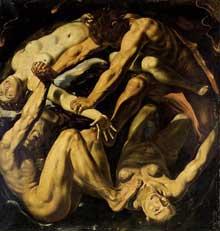 Louis Finsonius: allégorie des quatre éléments. 1611. Huile sur toile, 179 x 170cm.Collection privée