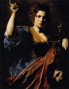 Jean de Boulogne, dit Le Valentin: Judith. 1626-1628. Huile sur toile, 97 x 74cm. Toulouse, Musée des Augustins