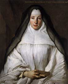Nicolas de Largillière (1656 - 1746) : portrait d'Elizabeth Throckmorton. Vers 1729. Huile sur toile, 82 x 66 cm. Washington, National Gallery of Art