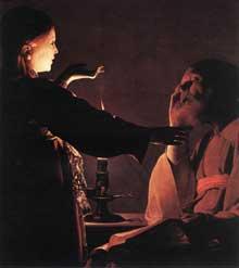 Georges de La Tour: le rêve de saint Joseph. Vers 1640. Huile sur toile, 93 x 81cm. Nantes, Musée des Beaux-Arts